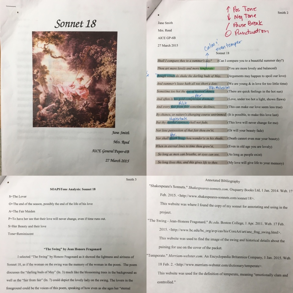 english literature and composition ap sample essays